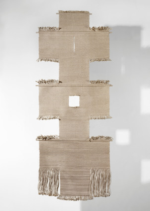 Lenore Tawney Path II, 1965-71 Linen 188 x 76.2 cm x 3 cm, 74 x 30 x 1/4 ins Signed on the recto