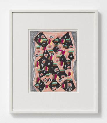 Betty Parsons Eyes, 1969 Marker on paper 22.5 x 17.2 cm, 8 7/8 x 6 3/4 ins 38.5 x 32.9 cm, 15 1/8 x 13 ins, framed