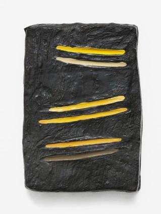 Erika Verzutti  Tester, 2015  Bronze and acrylic  30 x 20 x 4 cm, 11 3/4 x 7 7/8 x 1 5/8 ins  Unique