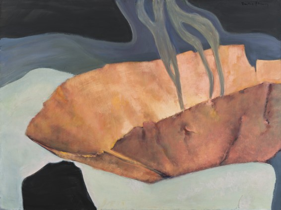 "Dorothea Tanning Pictor mysteriosa (Burnt Umbrage), 1997 Oil on canvas 97 x 130 cm, 38 1/4 x 51 1/8 ins unframed 99 x 132 cm, 39 x 52 ins framed Signed ""Dorothea Tanning"" top right"