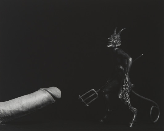 Robert Mapplethorpe  Cock and Devil, 1982  Silver Gelatin Print  50.8 x 40.6 cm, 20 x 16 ins paper size 73.3 x 60.1 cm, 28 7/8 x 23 5/8 ins framed  Edition 6/10  Printed in 1990
