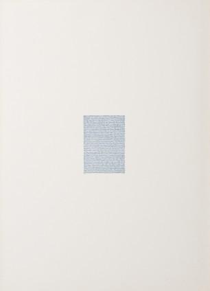 Irma Blank Eigenschriften, Pagina A-13, 1972 Pastel on paper 70 x 49.5 cm, 27 1/2 x 19 1/2 ins 74.4 x 53.8 cm, 29 1/4 x 21 1/8 ins, framed