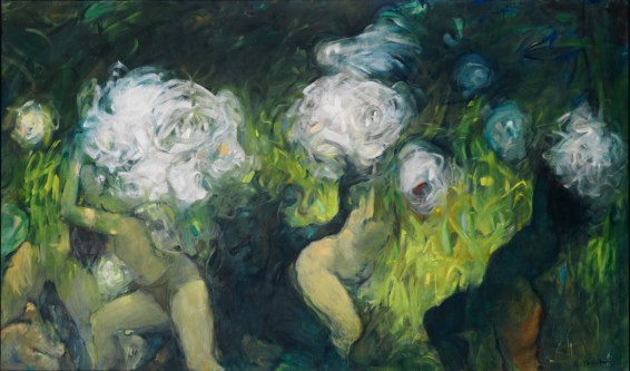 Dorothea Tanning On Avalon, 1987 Oil on canvas 197 x 330 cm 77 1/2 x 130 ins