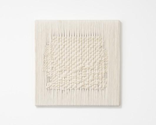 Sheila Hicks  Whisper, 2017  Linen  50.3 x 50 cm, 19 3/4 x 19 3/4, ins