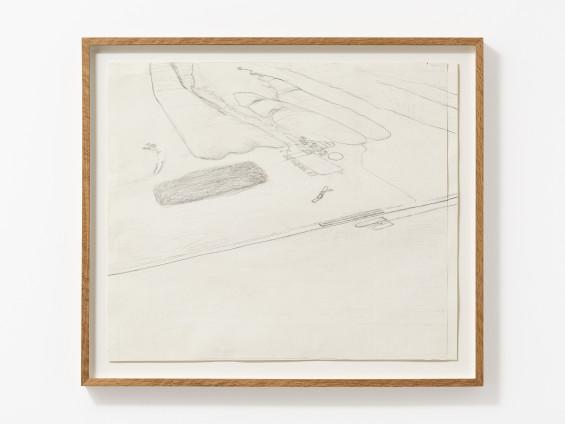 Carol Rhodes Land and Sea II, 2000 Pencil on paper 45 x 53 cm, 17 3/4 x 20 7/8 ins 52.5 x 60.5 cm, 20 5/8 x 23 7/8 ins framed