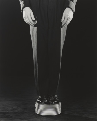 Robert Mapplethorpe  Shoes on Plates, 1984  Silver Gelatin Print  50.8 x 40.6 cm, 20 x 16 ins paper size 73.3 x 60.1 cm, 28 7/8 x 23 5/8 ins framed  AP 1/2 from an Edition of 10 + 2 APs  Printed in 1990