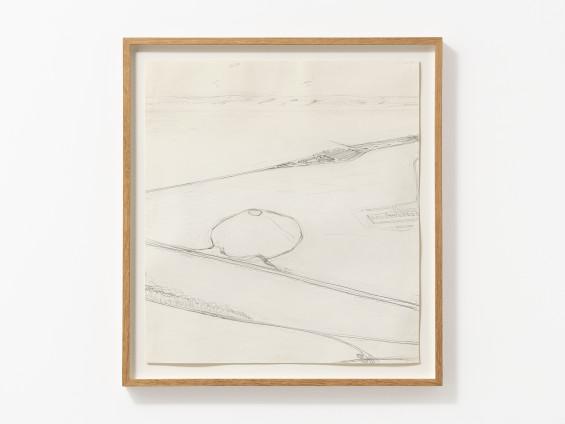 Carol Rhodes Industrial Landscape II, 1998 Pencil on paper 50.5 x 45.5 cm, 19 7/8 x 17 7/8 ins 58 x 53.3 cm, 22 7/8 x 21 ins framed