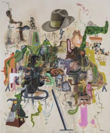 Michael Bauer  Creme Dream 4, 2015  Oil on canvas  183.7 x 152.7 cm, 72 3/8 x 60 1/8 ins