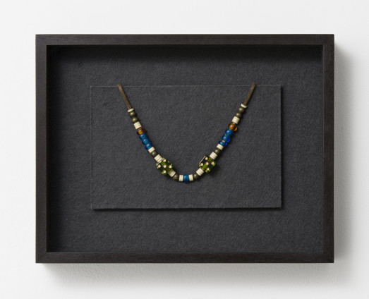 Robert Mapplethorpe Necklace, 1970-71 Mixed media Dimensions variable 25.1 x 32.4 x 6.4 cm, 9 7/8 x 12 3/4 x 2 1/2 ins, framed
