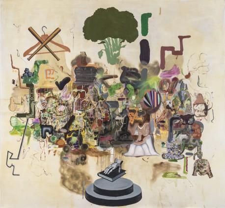 Michael Bauer  Butter Bebop, 2015  Oil on canvas  228.6 x 247 cm, 90 x 97 1/4 ins