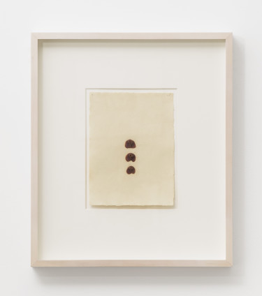 Hannah Wilke Untitled, c. 1976 Chewing gum on rice paper 19.7 x 14.6 cm, 7 3/4 x 5 3/4 ins 40.2 x 34.8 cm, 15 7/8 x 13 3/4 ins, framed
