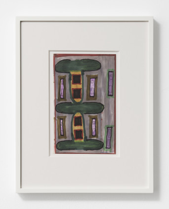 Betty Parsons Untitled (House Facade), 1971 Ink and marker on paper 20.7 x 13 cm, 8 1/8 x 5 1/8 ins 36.8 x 28.5 cm, 14 1/2 x 11 1/4 ins, framed