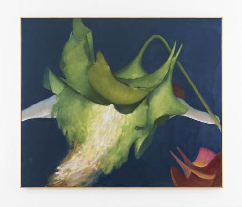 "Dorothea Tanning Victrola floribunda, 1997 Oil on canvas 142.2 x 168 cm, 56 x 66 1/8 ins 144.2 x 170cm, 56 3/4 x 66 7/8 ins framed Signed ""Dorothea Tanning"" bottom right"
