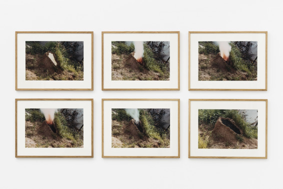 Ana Mendieta Volcán, 1979/1997 6 colour photographs 40.6 x 50.8 cm, 16 x 20 ins, each, paper size 48.9 x 65.1 cm, 19 1/4 x 25 5/8 ins, each, framed Edition 2/10 Estate Stamp 'Ana Mendieta - Administratix of the Estate - GP0753 F 2/10' verso