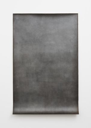 Michelle Stuart Zacaba, 1979 Graphite and earth on muslin-mounted rag paper 241.3 x 154.9 cm, 95 x 61 ins
