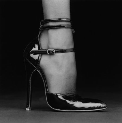 Robert Mapplethorpe Melody / Shoe, 1987 Silver Gelatin print, framed Unframed: 61 x 50.8 cm / 24 x 20 ins Framed: 74 x 71.2 cm / 29 1/8 x 28 1/8 ins 1/2 APs from an Edition of 10 + 2 APs Stamped and Signed by The Robert Mapplethorpe Estate, Printed in 1990