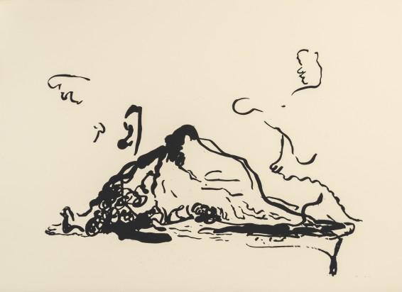 Michael Bauer  Gift (Hush) 2, 2015  Screenprint on paper, framed  56.5 x 76.2 cm, 22 1/4 x 30 ins  Edition 1/3 + 1 AP