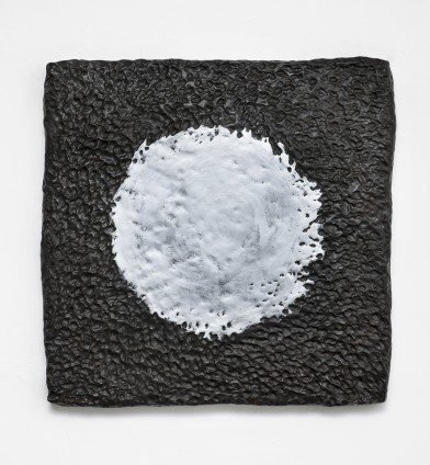 Erika Verzutti  Black Sun, 2015  Bronze and wax  65 x 66 x 5 cm, 25 5/8 x 26 x 2 ins  Edition 1/3 + 1AP
