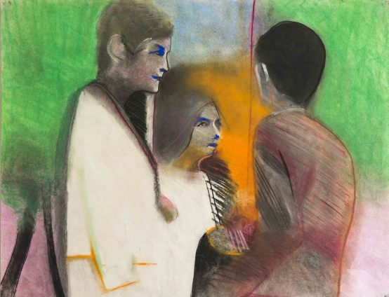 Sue Dunkley Wedding, c. 1973 Pastel on paper 45.5 x 58.3 cm, 17 7/8 x 23 ins, paper size 63 x 76 cm, 24 3/4 x 29 7/8 ins, framed