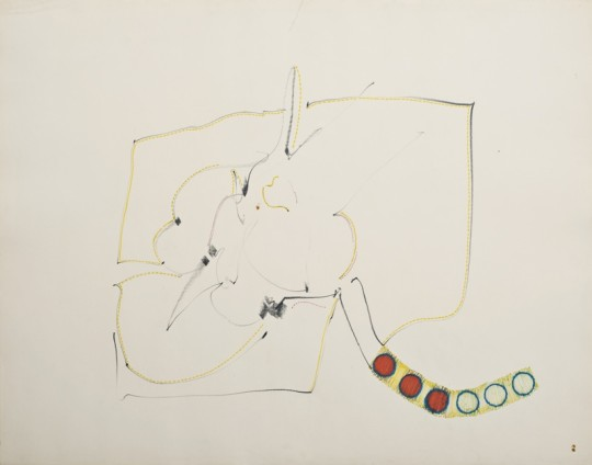 Hannah Wilke Untitled, c. 1960s Pastel and graphite on paper Unframed: 47.6 x 61 cm / 18 3/4 x 24 ins Framed: 70.8 x 83.2 cm / 27 7/8 x 32 3/4 ins