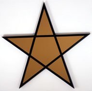 Robert Mapplethorpe Star (Gold), 1983 Gold mirror and stained wood 119.5 x 124.5 cms / 47 x 49 ins Signed on back by Robert Mapplethorpe