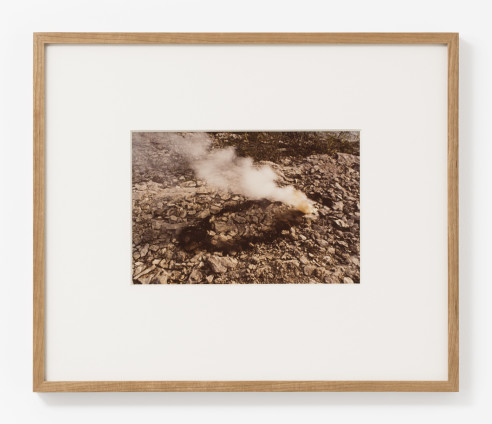 Ana Mendieta Rocks and Explosion, 1978 Lifetime colour photograph 20.3 x 25.4 cm, 8 x 10 ins, paper size 46.3 x 39 cm, 18 1/4 x 15 3/8 ins, framed Unique
