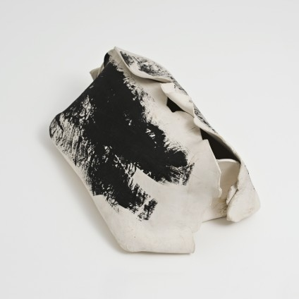 Hannah Wilke Untitled, c. 1970s-80s White unglazed ceramic painted black 25.4 x 32 x 56 cm 10 x 12 5/8 x 22 1/8 ins