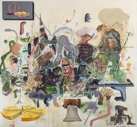 Michael Bauer  General Saxx, 2015  Oil on canvas  228.6 x 247 cm, 90 x 97 1/4 ins