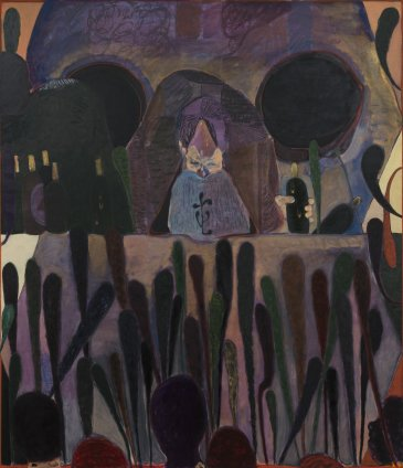 Ryan Mosley  A Bar in France, 2011  Oil on linen  220 x 190 cm 86 5/8 x 74 3/4 in