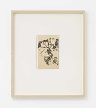 Hannah Wilke  Untitled, c. 1964-66  Graphite on card  16.5 x 10.2 cm, 6 1/2 x 4 ins, paper size  44 x 37.8 x 4 cm, 17 3/8 x 14 7/8 x 1 5/8 ins, framed  Signed on recto 'Wilke'