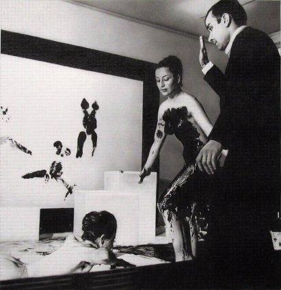Dan Fischer Yves Klein, 2010 Graphite on paper Image Size: 25.2 x 25.6 cm / 9 7/8 x 10 ins Paper Size: 55.9 x 50.8 cm / 22 x 20 in Framed: 59.3 x 54.2 cm / 23 3/8 x 21 3/8 ins