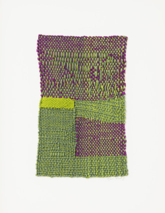 Sheila Hicks  Small Chance, 2016  Cotton and linen  23.5 x 15 cm, 9 1/4 x 5 7/8 ins  41.4 x 31.8 cm, 16 1/4 x 12 1/2 ins framed  Signed on front and verso