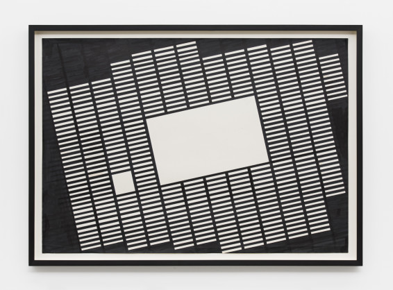 Branko Vlahović  Untitled, 1965-66  Marker pen on paper  70 x 100 cm, 27 1/2 x 39 3/8 ins, paper size  78 x 108 x 5 cm, 30 3/4 x 42 1/2 x 2 ins, framed