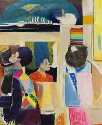 Ryan Mosley  Posturing for Conversation, 2016  Oil on canvas  183 x 150 cm, 72 1/8 x 59 1/8 ins