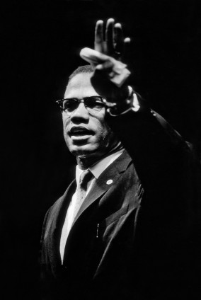 Gordon Parks Malcolm X at Rally, Chicago, Illinois, 1963 Silver Gelatin Print 35.6 x 27.9 cm, 14 x 11 ins, paper size 55.6 x 47 cm, 21 7/8 x 18 1/2 ins, framed GPF Authentication