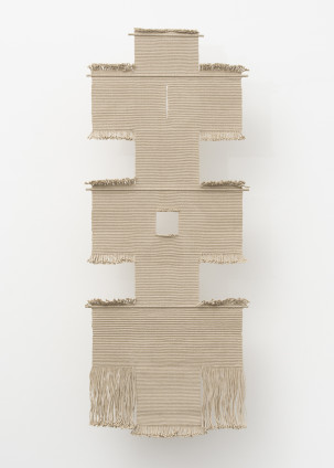 Lenore Tawney Path II, 1965-1971 Linen 188 x 76.2 x 3 cm, 74 x 30 x 1/4 ins Unique Signed on the recto