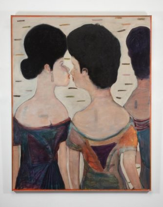 Ryan Mosley  A Conversation, 2011  Oil on linen  150 x 120 cm 59 1/8 x 47 1/4 in