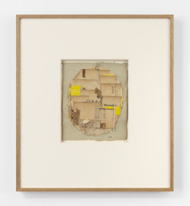 Lenore Tawney Untitled, 1967 Collage, watercolour, acrylic 21 x 18 cm, 8 1/4 x 7 1/8 ins 48.3 x 42.5 x 5.1 cm 19 x 16 3/4 x 2 ins, framed Signed on the recto
