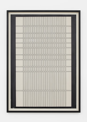 Branko Vlahović  Untitled, 1965  Marker pen on paper  100 x 70 cm, 39 3/8 x 27 1/2 ins, paper size  108 x 78 x 5 cm, 42 1/2 x 30 3/4 x 2 ins, framed