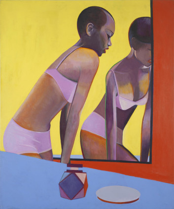Sue Dunkley Woman in Mirror, c. 1970 Oil on canvas 183 x 152 cm, 72 1/8 x 59 7/8 ins Titled on verso