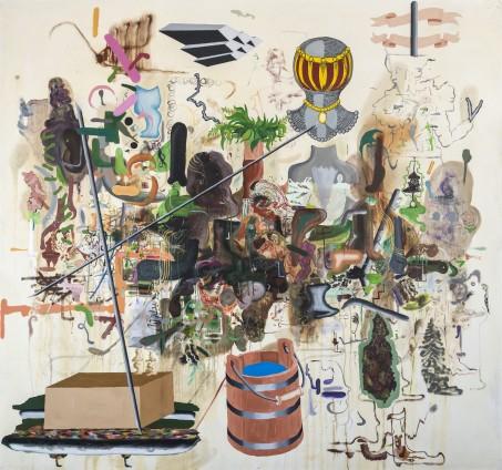 Michael Bauer  Durango B.I.T., 2015  Oil on canvas  228.6 x 247 cm, 90 x 97 1/4 ins