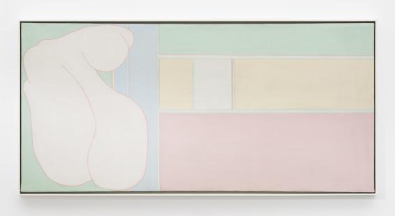 Hannah Wilke  Untitled, c. 1963-65  Acrylic on canvas  61.3 x 127 cm, 24 1/8 x 50 ins  63.6 x 129.3 cm, 25 1/8 x 50 7/8 ins, framed