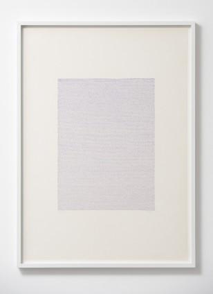 Irma Blank Eigenschriften, Pagina 52, 1972 Pastel on paper 70 x 50 cm, 27 1/2 x 19 3/4 ins 74.4 x 53.8 cm, 29 1/4 x 21 1/8 ins, framed Unique