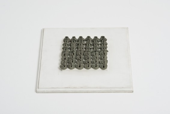 Hannah Wilke Needed-Erase-Her, 1974 48 kneaded erasers on painted board Board and sculpture: 4.2 x 32.5 x 32.5 cm / 1 5/8 x 12 3/4 x 12 3/4 ins