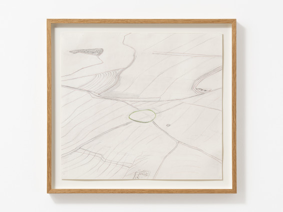 Carol Rhodes Land Levels and Rises, 2010 Pencil on paper 40 x 44 cm, 15 3/4 x 17 3/8 ins 47.4 x 51.4 cm, 18 5/8 x 20 1/4 ins framed