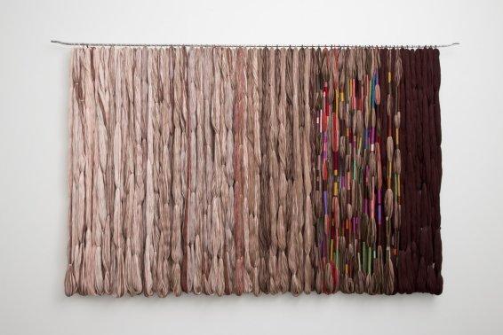 Sheila Hicks Procession Temuco, 2012/13 Linen, iron 370 x 227 cm / 145 5/8 x 89 3/8 ins