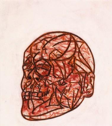 Tony Bevan, Self Portrait Skull (PC1312), 2013