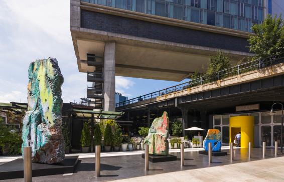 José Parlá, Standard Highline installation, 2015