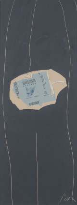 Robert Motherwell, Gauloises on Grey #29, 1972