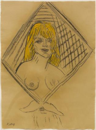 R. B. Kitaj, UCLA Blonde (After Van Gogh), 2001-2004